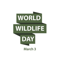 World wildlife day template design vector