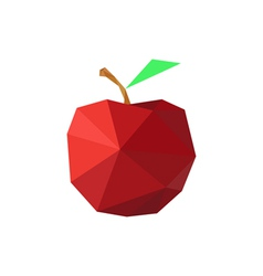 abstract origami red apple vector image vector image