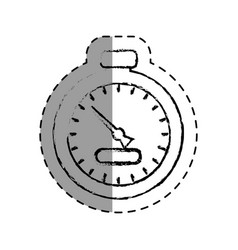 chronometer time isolated icon vector image