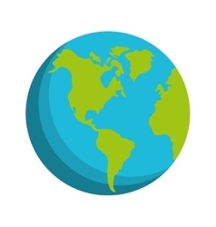 globe world earth connection technology vector image
