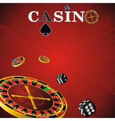 Roulette casino red vector