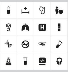 set of 16 editable care icons includes symbols vector image vector image