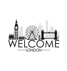 Welcome to London vector image