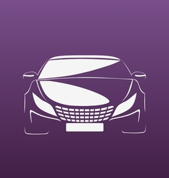 Auto in purple vector image vector image
