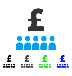 British business education flat icon vector