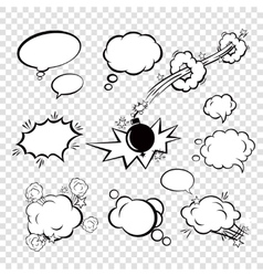 Comic set bubbles vector image vector image