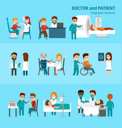 medical infographic elements with doctor and vector image