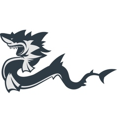 Monster Shark vector image