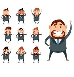 Set of business men2 vector image vector image