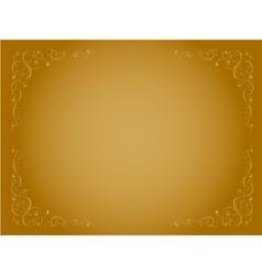 simple gold ornamental decorative frame vector image vector image