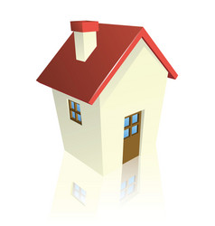 stylised cottage or house vector image