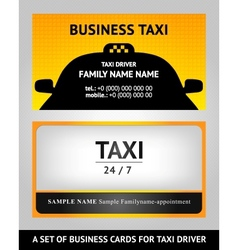 business cards taxi - set vector image