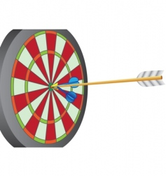 dart and arrow vector image vector image