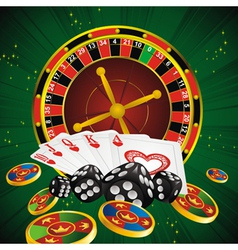 Roulette green all vector