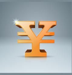 3d infographicyen money icon vector image vector image