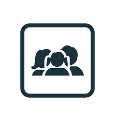 family icon Rounded squares button vector image