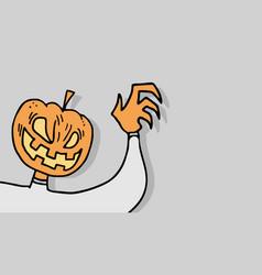 ghost pumpkin vector image