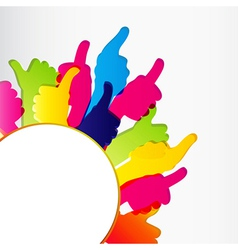 Thumbs Up background vector image