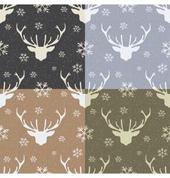 Vintage pattern with deer vector
