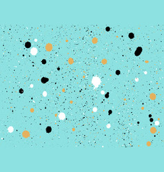 abstract pattern with black white and gold dots vector image