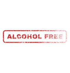 alcohol free rubber stamp vector image