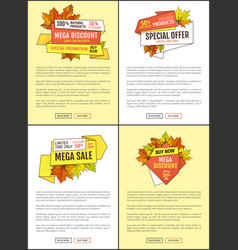 autumn discount special offer promo price posters vector image