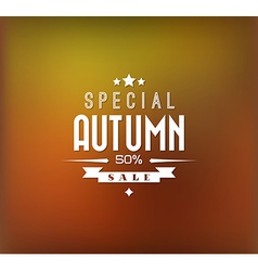 Autumn sale background vector