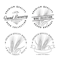 Beer Label Set vector image