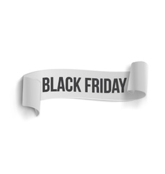 Black Friday Sale Curved Ribbon Banner Template vector image