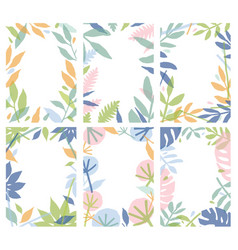 bundle of vertical natural backgrounds decorated vector image