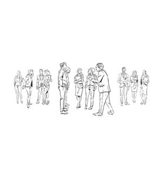 business people communication during meeting vector image
