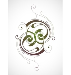 Calligraphy emblem vector image