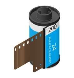 Camera film isometric icon vector image
