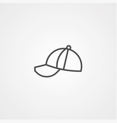 cap icon sign symbol vector image