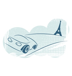 Car effel tower vector