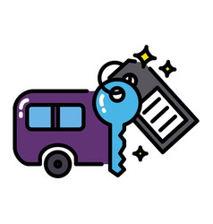 Caravan icon colorful sharing economy concept vector