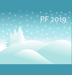 christmas winter landscape with snow covered vector image