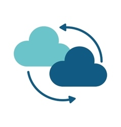 Clouds system technology connect design vector