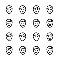 Crisp face icons vector