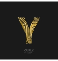 Curly textured Letter Y vector