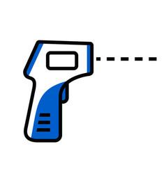 Digital thermometer icon body temperature check vector