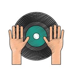 dj vinyl symbol vector image