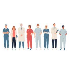 doctors medical workers medics and nurses vector image