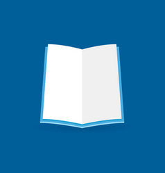 flat open book icon education concept vector image