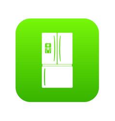 fridge icon green vector image