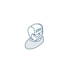 grandfather avatar old man isometric icon 3d line vector image