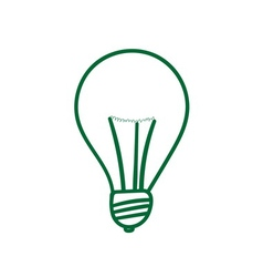 Green lightbulb sign vector image