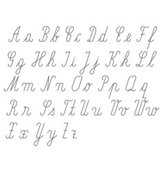 Handwritten alphabet small and big letter vector