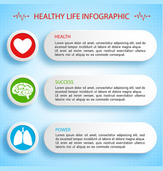 Healthy life infographics vector