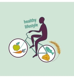 Healthy lifestyle symbol vector image